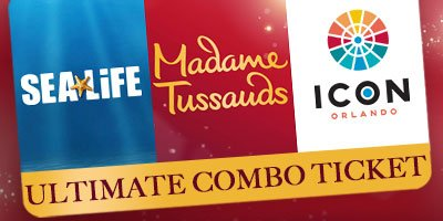 Icon 360, Madame Tussaunds & Sealife Aquarium - 2 Attractions
